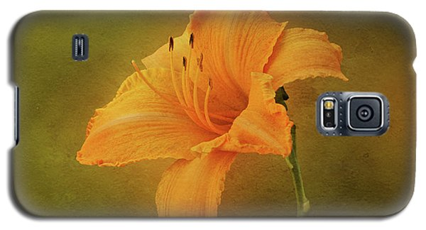 Orange Daylily Galaxy S5 Case