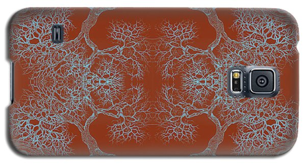 Orange Desire Tree 8 Hybrid 1 Galaxy S5 Case