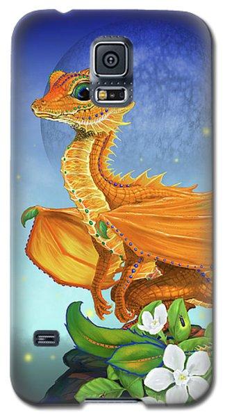 Galaxy S5 Case featuring the digital art Orange Dragon by Stanley Morrison