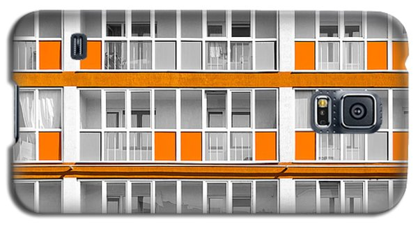 Orange Exterior Decoration Details Of Modern Flats Galaxy S5 Case by John Williams