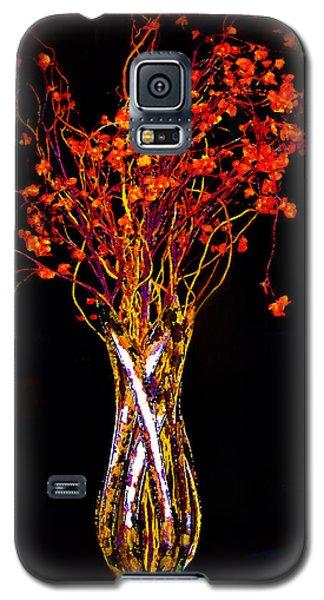 Orange Flowers In Vase Galaxy S5 Case