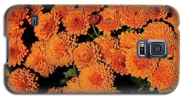 Orange Flowers Galaxy S5 Case