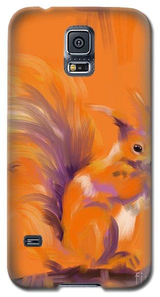 Orange Forest Squirrel Galaxy S5 Case