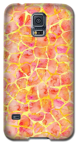 Orange Giraffe Print Galaxy S5 Case
