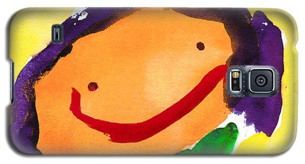 Orange Happy Face Galaxy S5 Case