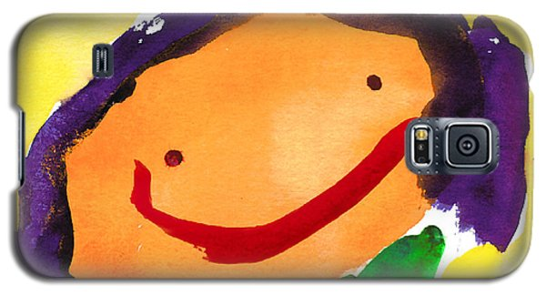 Orange Happy Face Galaxy S5 Case