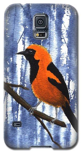 Orange-headed Oriole Galaxy S5 Case
