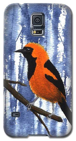 Orange-headed Oriole Galaxy S5 Case