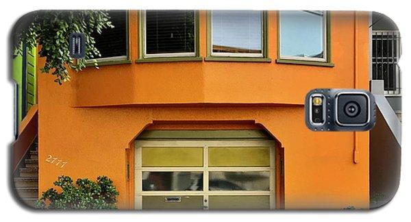 Galaxy S5 Case - Orange House by Julie Gebhardt