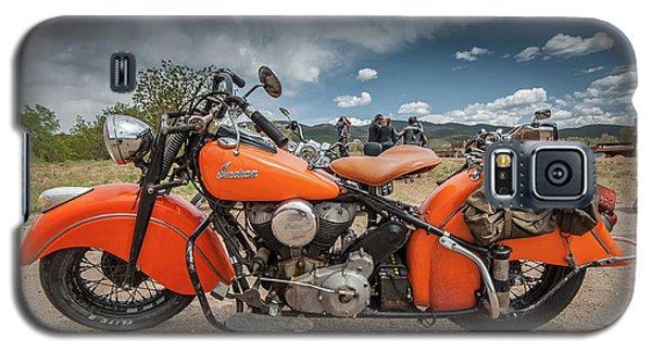 Orange Indian Motorcycle Galaxy S5 Case