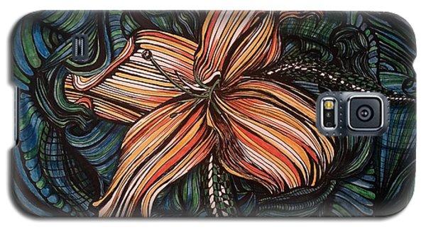 Orange Lily Galaxy S5 Case