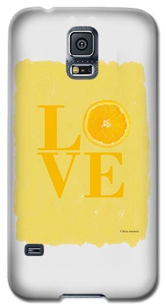 Orange Galaxy S5 Case by Mark Rogan