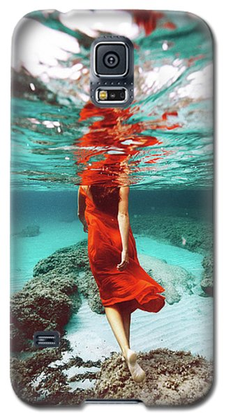 Orange Mermaid Galaxy S5 Case