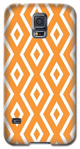 Orange Pattern Galaxy S5 Case