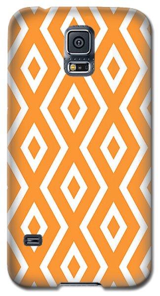 Orange Pattern Galaxy S5 Case by Christina Rollo