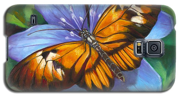 Orange Piano Key Butterfly Galaxy S5 Case