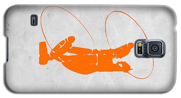 Helicopter Galaxy S5 Case - Orange Plane by Naxart Studio