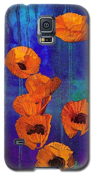 Orange Poppies Galaxy S5 Case by I'ina Van Lawick