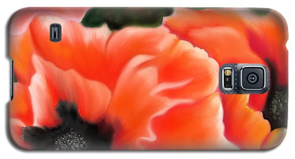 Orange Poppies Galaxy S5 Case