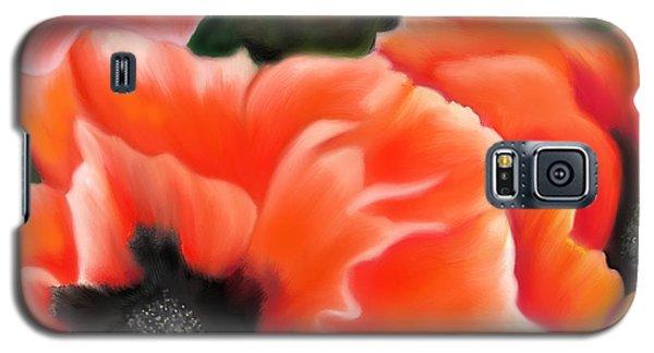 Orange Poppies Galaxy S5 Case