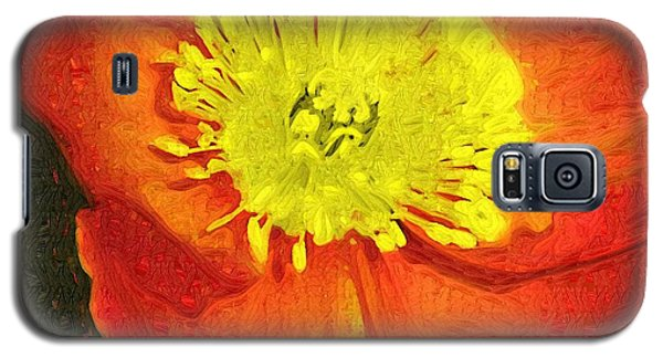 Galaxy S5 Case featuring the photograph Orange Poppy by Donna Bentley