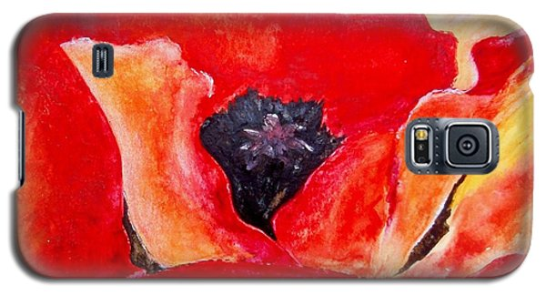 Orange Poppy Galaxy S5 Case