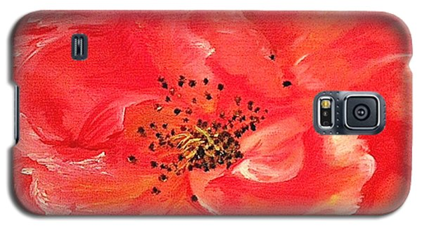 Galaxy S5 Case featuring the painting Orange Rose by Sheron Petrie