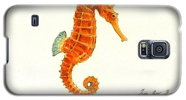 Orange Seahorse Galaxy S5 Case