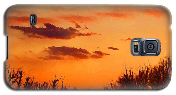 Orange Sky At Night Galaxy S5 Case