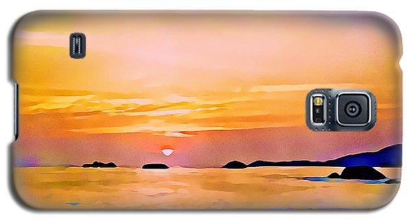 Orange Sky In Ixtapa, Mexico Galaxy S5 Case