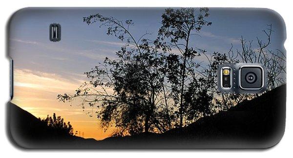 Orange Sky Nature Silhouette Galaxy S5 Case