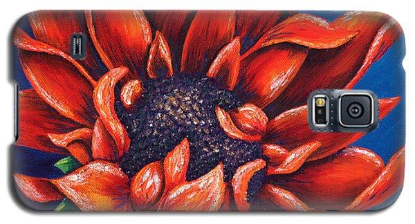 Orange Sunflower Galaxy S5 Case