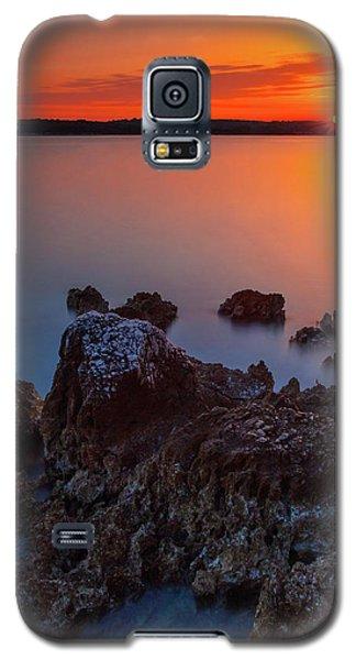 Orange Sunrise Galaxy S5 Case