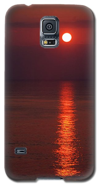 Orange Sunrise Galaxy S5 Case