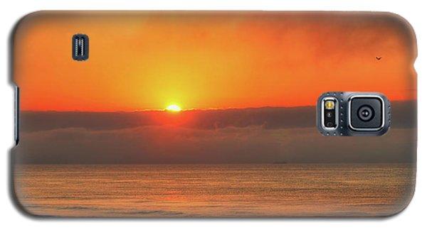 Orange Sunrise On Long Beach Island Galaxy S5 Case