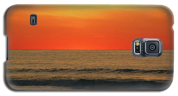 Orange Sunset On The Jersey Shore Galaxy S5 Case