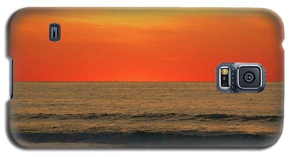 Orange Sunset On The Jersey Shore Galaxy S5 Case