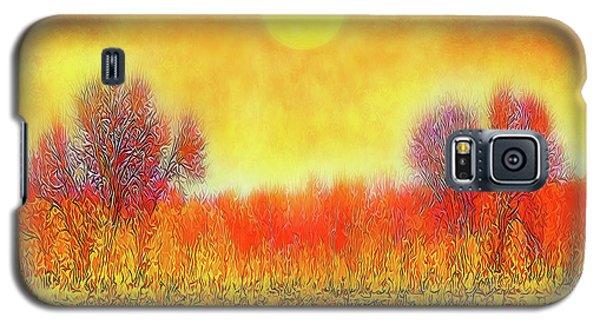 Orange Sunset Shimmer - Field In Boulder County Colorado Galaxy S5 Case