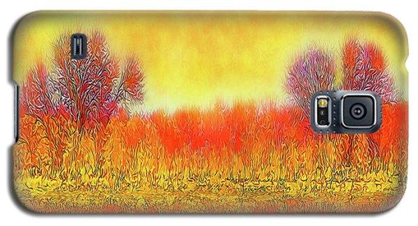 Orange Sunset Shimmer - Field In Boulder County Colorado Galaxy S5 Case by Joel Bruce Wallach