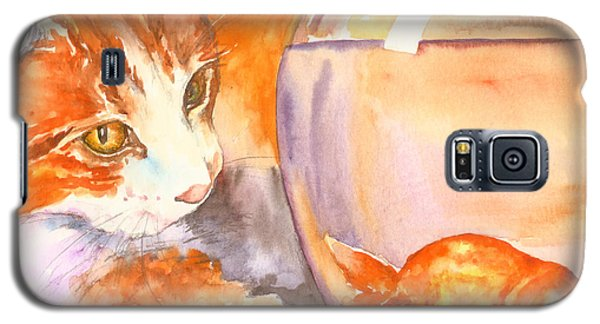 Orange Tabby With Goldfish Galaxy S5 Case