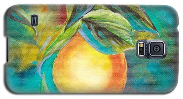 Galaxy S5 Case featuring the painting Orange Tree by Mary Scott