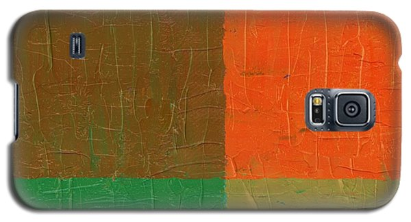 Orange With Brown And Teal Galaxy S5 Case by Michelle Calkins