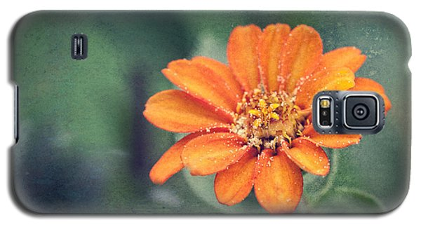 Orange Zinnia Galaxy S5 Case