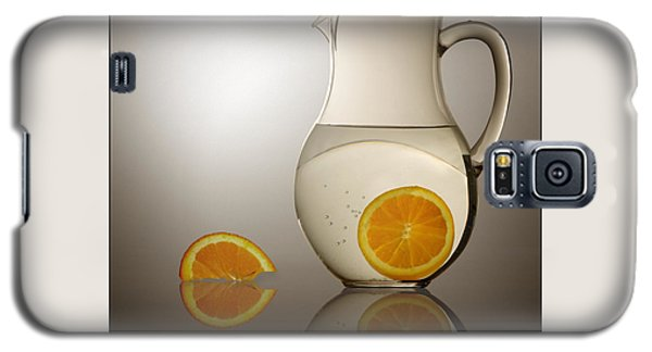 Galaxy S5 Case featuring the photograph Oranges And Water Pitcher by Joe Bonita