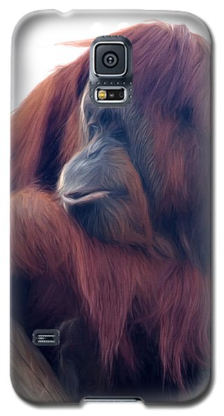 Orangutan - Color Version Galaxy S5 Case by Lana Trussell
