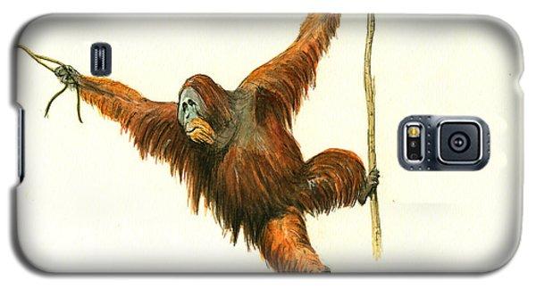 Orangutan Galaxy S5 Case - Orangutan by Juan Bosco