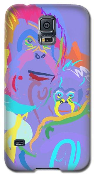 Orangutan Mom And Baby Galaxy S5 Case