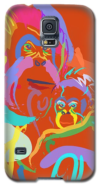 Orangutan Mom And Baby Galaxy S5 Case by Go Van Kampen