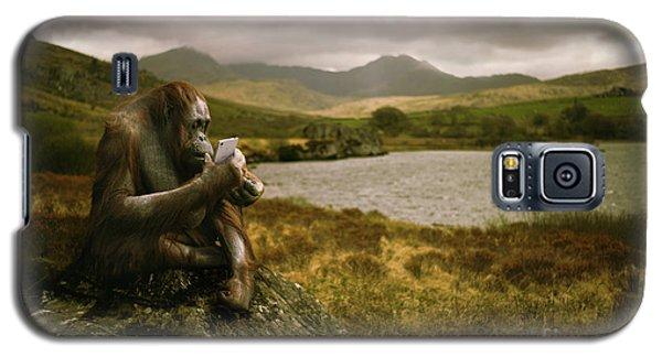 Orangutan With Smart Phone Galaxy S5 Case