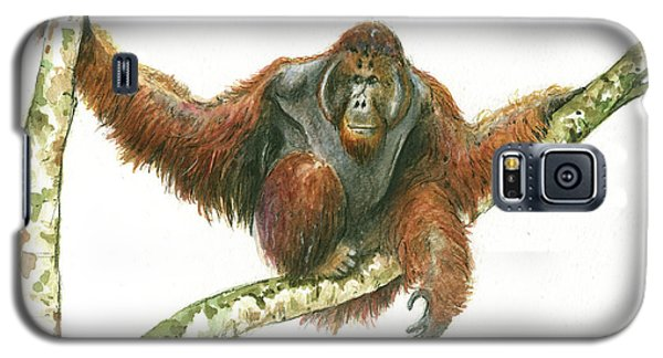 Orangutan Galaxy S5 Case - Orangutang by Juan Bosco